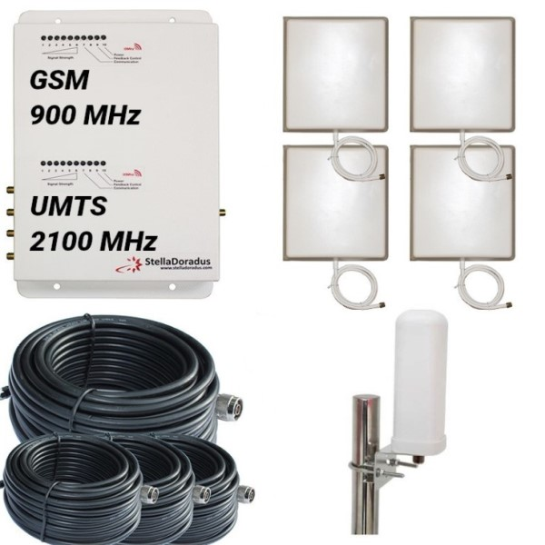 RIPETITORE DUALBAND GSM UMTS STELLAHOME GW - 900/2100MHz OMNI ESTERNA