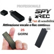 MICRO REGISTRATORE PROFESSIONALE AUDIO VOCALE SPY MINI AMBIENTALE NASCOSTO