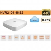 NVR IP 4K ULTRA HD 4 CANALI 8MP 1HDD P2P