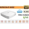 NVR IP A 4 CANALI 4K H265 FINO A 8MP 1HDD POE