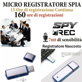 MICRO REGISTRATORE VOCALE SPY
