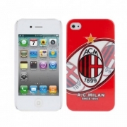 COVER CALCIO MILAN PLASTICA RIGIDA PER IPHONE 4 4S