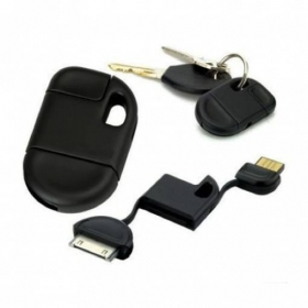 PORTACHIAVI CARICATORE USB PER IPHONE IPAD IPOD 30 PIN